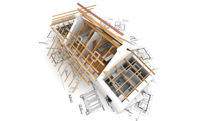 Image 3D aménagement combles travaux charpente Fédération Habitat Écologique